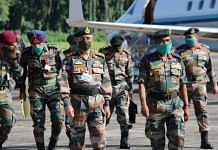 Indian Army chief General M.M. Naravane at Tezpur Thursday | Twitter | @airnewsalerts