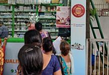 Women queue up at a Delhi Janaushadhi Kendra to buy Re 1 Suvidha sanitary napkins, in this August 2019 file photo | Representational image | ThePrint