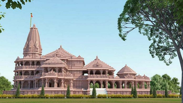 The proposed model of the Ram Janmabhoomi temple in Ayodhya | Photo: ANI