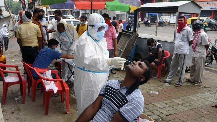 A Covid-19 testing camp in Patna   Representational image: ANI