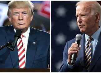 US President Donald Trump and former vice president Joe Biden   Flickr & Wiki Commons
