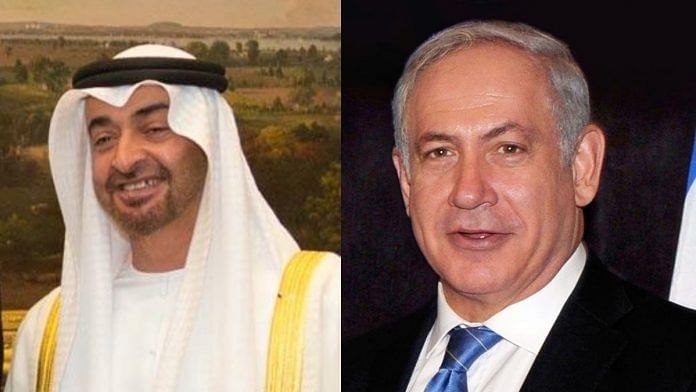 UAE Crown Prince Muhammed Bin Zayed (left) and Israel PM Benjamin Netanyahu (right) | Commons