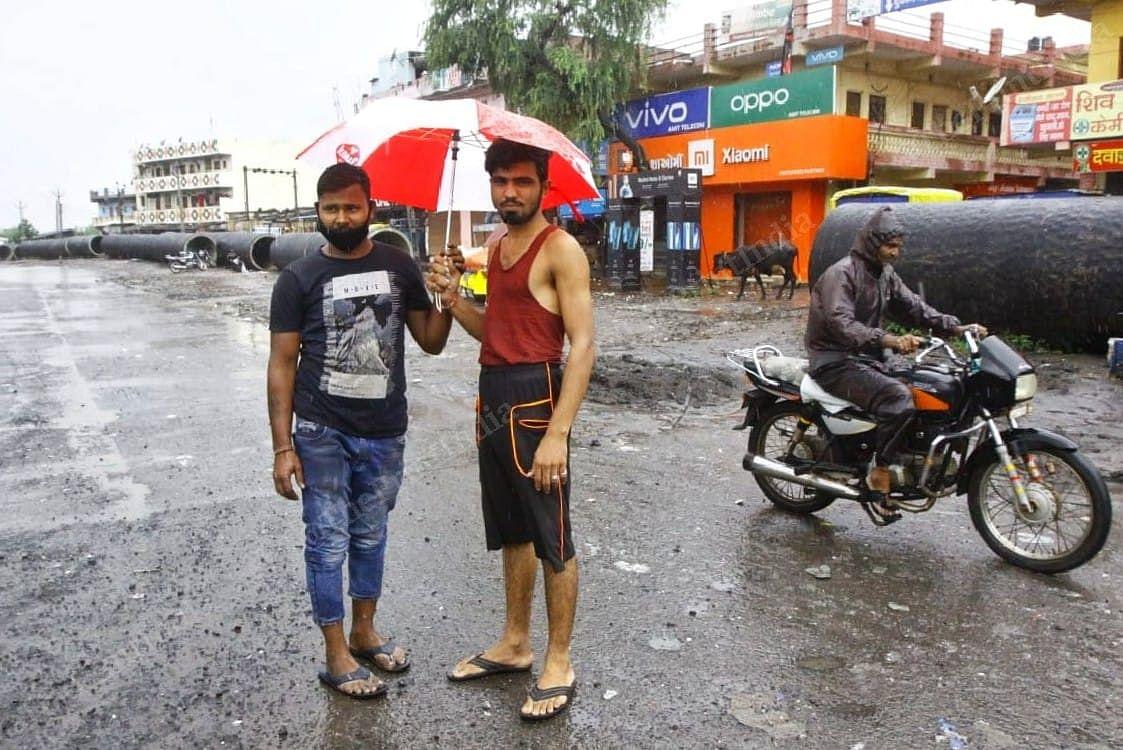 Vivek and Pookhraj at the Sachin Industrial Area in Surat | Photo: Praveen Jain | ThePrint