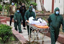 Representational image of a dead Covid patient | Photo: ANI