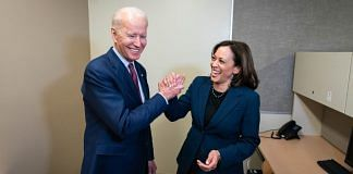 Democratic presidential nominee Joe Biden with Indian-origin senator Kamala Harris | Twitter/Joe Biden