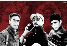 (L-R) Ibrar Ahmed, Imtiyaz Ahmed and Ibrar Ahmed, the three youth killed in the Shopian encounter in July | ThePrint Team