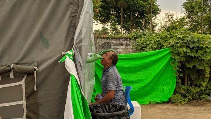 Representational image of Covid testing in Nagaland | Yimkumla Longkumer | ThePrint