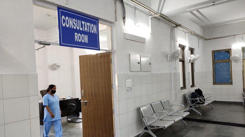 Consultation room at the RGSSH's post-Covid clinic | Photo: Simrin Sirur | ThePrint
