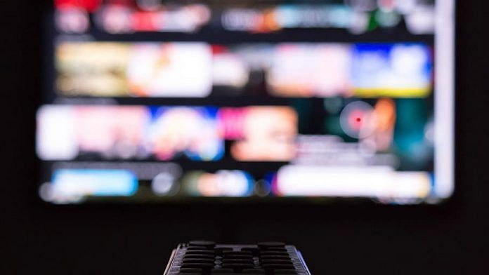 Representational image of a screen and remote