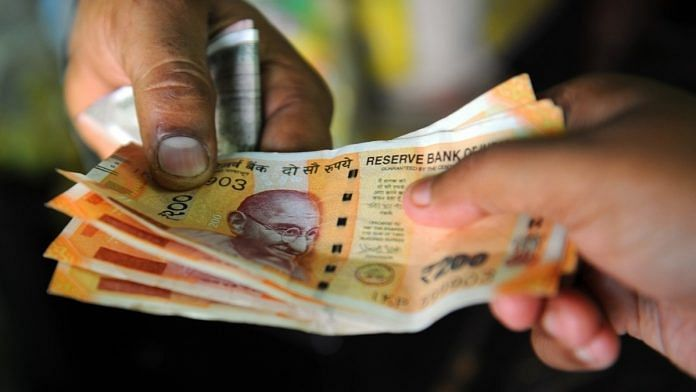 Representational image. Rs 200 currency notes.   Photo: Suraj Singh Bisht/ThePrint