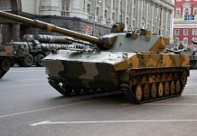 Representational image. A file photo of light Sprut-SDM1 tank in Moscow. | Photo: Commons