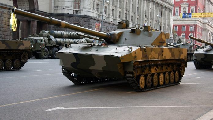 Representational image. A file photo of light Sprut-SDM1 tank in Moscow.   Photo: Commons