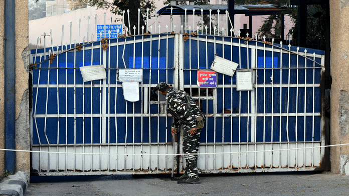 Representational image | A security person stands guard at Tihar jail in New Delhi | ANI Photo
