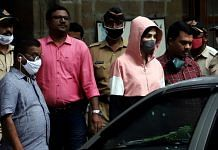Bollywood Actress Rhea Chakraborty leaves at NCB office, in Mumbai on Monday. | ANI