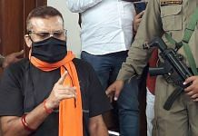 Former IPS officer Gupteshwar Pandey addresses a press conference in Patna Wednesday | PTI