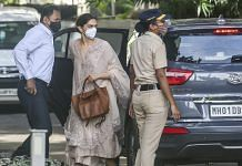 Bollywood actress Deepika Padukone arrives at NCB for questioning in a drug case related to late actor Sushant Singh Rajput's death | PTI
