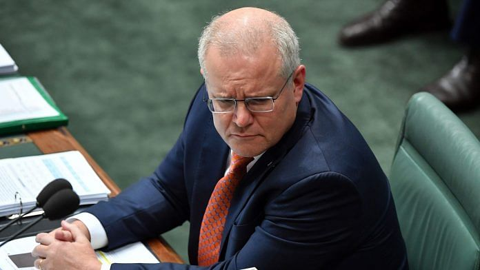 Prime Minister Scott Morrison during Question Time in the House of Representatives at Parliament House on August 26, 2020 in Canberra, Australia | (Photo by Sam Mooy | Getty Images
