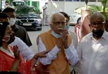 BJP senior leader Lal Krishna Advani after being acquitted in Babri Masjid demolition case, in New Delhi Wednesday   ANI