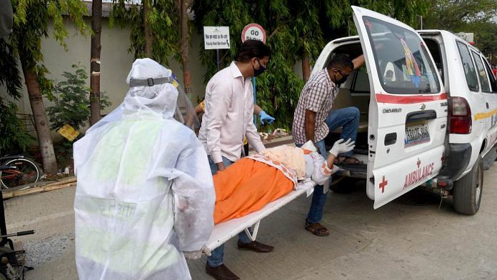 Representational image of a suspected Covid-19 patient being taken in an ambulance | ANI