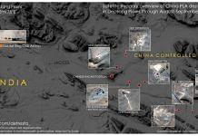 Satellite image of Chinese positions along Depsang Plains | Credit: @detresfa