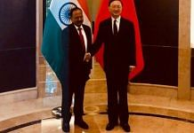 File photo of NSA Ajit Doval and his Chinese counterpart Yang Jiechi | Twitter | @EOIBeijing