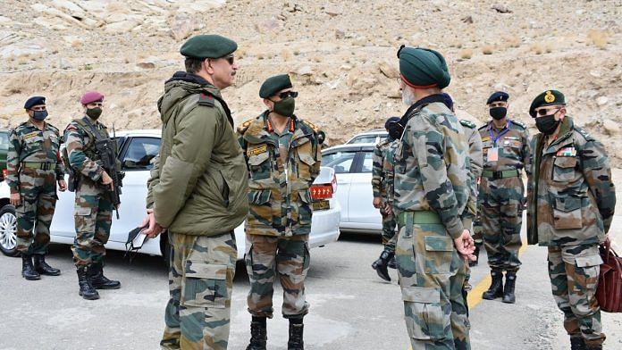 General MM Naravane visited Leh and reviewed security situation and operational preparedness along the Line of Actual Control | Twitter