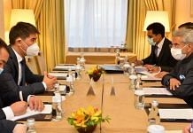 External Affairs Minister S Jaishankar with FM Chingiz Aidarbekov of Kyrgyz Republic on SCO sidelines | Twitter