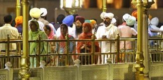 Lack of social distancing measures as people queue up at Golden Temple. | Photo: Praveen Jain | ThePrint