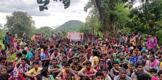 Tribals had gathered to protest at Dantewada Sunday   By special arrangement
