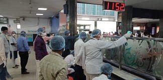 Officials take precautions at the Bilaspur railway station in Chhattisgarh   Photo: Prithviraj Singh   ThePrint