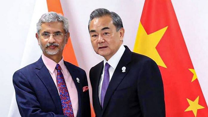 File photo of External Affairs Minister S. Jaishankar and Chinese State Councillor and Foreign Minister Wang Yi | PTI