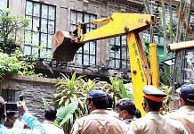 Brihanmumbai Municipal Corporation (BMC) officials carry out demolition at Kangana Ranaut's office in Mumbai on 8 September | ANI