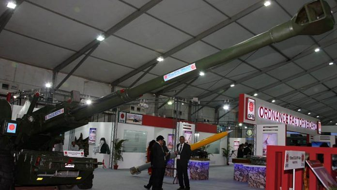 File image of the OFB pavilion at DefExpo 2016 | Representational image | Twitter | @SpokespersonMoD