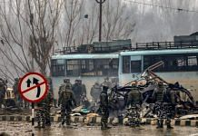 Security personnel at the site of the 14 February 2019 Pulwama attack, which killed 40 CRPF personnel | File photo | PTI
