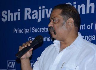 File image of West Bengal Chief Secretary Rajiva Sinha | Twitter | @FollowCII