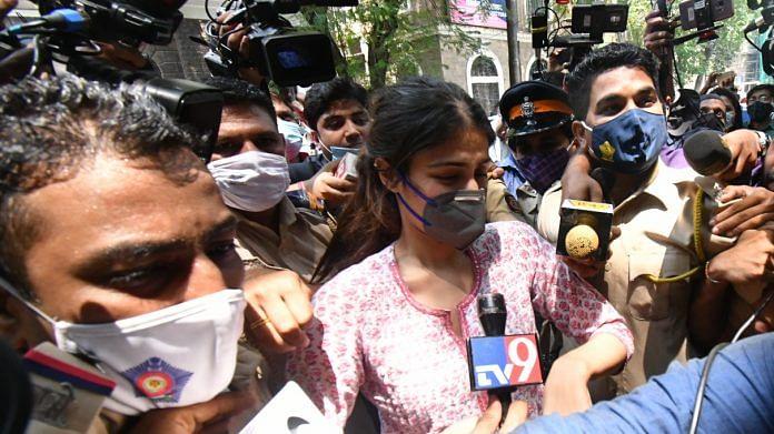 Actor Rhea Chakraborty outside Narcotics Control Bureau in Mumbai   By special arrangement   ThePrint