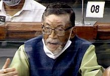 Santosh Kumar Gangwar, Union minister of state with independent charge for labour and employment, speaks in the Lok Sabha Tuesday | Photo: ANI | Lok Sabha TV