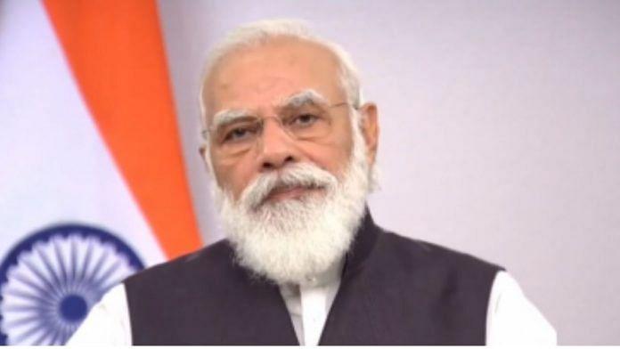 PM Modi speaking at theUS-India Strategic Partnership Forum | Twitter @narendramodi