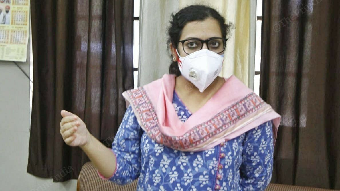 Dr. Surbhi Malik, the IAS officer in charge of Covid-19 section at the Rajindra Hospital in Patiala | Photo: Pravin Jain | ThePrint