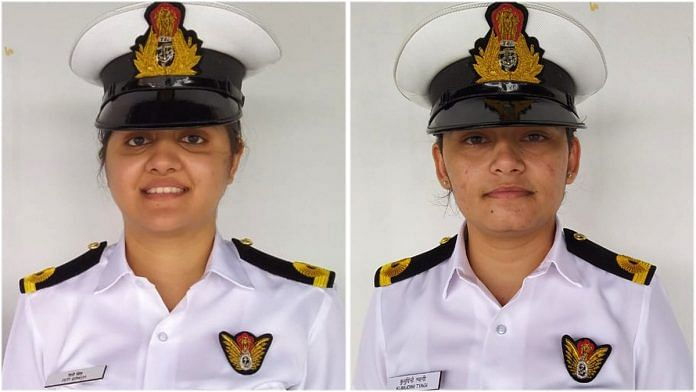 Sub Lieutenants Riti Singh and Kumudini Tyagi of the Indian Navy | By special arrangement