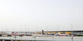 File photo of aircraft at Indira Gandhi International Airport in New Delhi   Photo: T. Narayan   Bloomberg