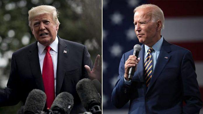 US President Donald Trump and former vice president Joe Biden