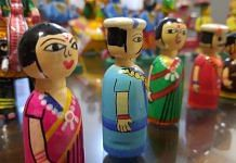 Channapatna toys displayed at a store in Ramanagara district. | Photo: Rohini Swamy/ThePrint