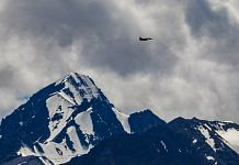 An Indian Air Force fighter jet flies over Ladakh on 6 September, amid prolonged India-China standoff in the region | PTI