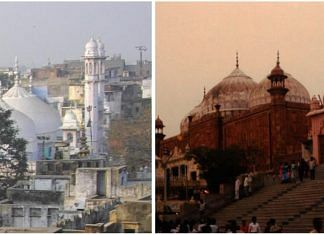 The Gyanvapi Mosque next to Kashi Vishwanath temple in Varanasi (left) and the Shahi Idgah, which is adjacent to the Krishna Janmabhoomi temple in Mathura | Photos: Commons