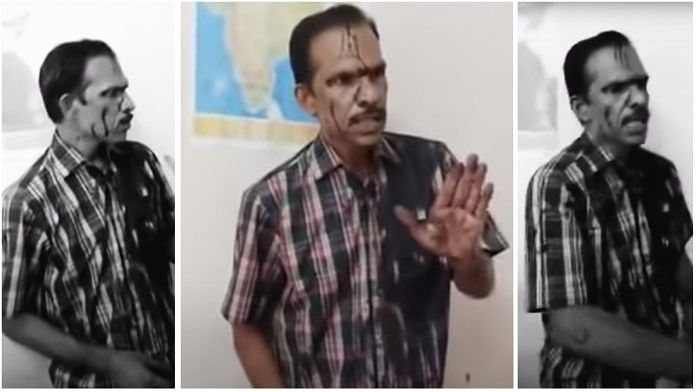 A screenshot of Kerala-based vlogger Vijay P. Nair, who is accused of making 'indecent' comments against activists. | Photo: YouTube