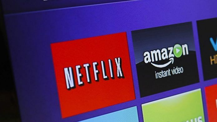 Representational image of a television streaming player menu screen featuring Netflix, Amazon