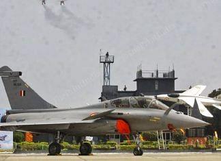 Rafale jet at the induction ceremony in Ambala. | Photo: Praveen Jain/ThePrint