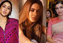 Actors Sara Ali Khan, Rakul Preet Singh and Deepika Padukone. | Photo: Commons