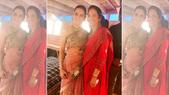 Bollywood actor Kangana Ranaut with her mother Asha | Twitter